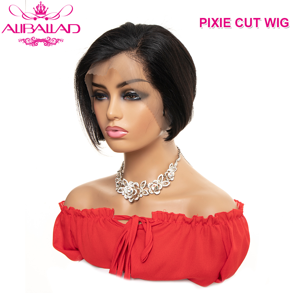 Pixie Cut Wig 13x4 Bob Lace Front Wigs Brazilian Straight Lace Front Human Hair Wigs 130% Density Remy Short Human Hair Wigs