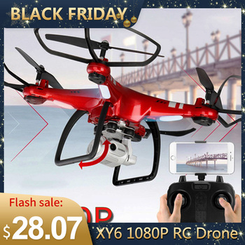 Newest XY6 Four-axis RC Drone Quadcopter Helicopter 1080P WIFI FPV Camera Aerial Video Professional Remote Control Drone Toy Kid цена 2017