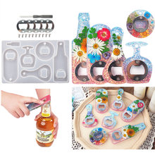 Corkscrew DIY Crystal Resin Epoxy Silicone Mold Beer Spanner Bottle Opener Dried Flower Epoxy Mirror Silicone Mold Resin