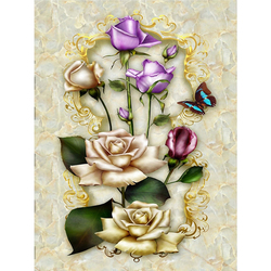 5D Diamond Painting Flower Rose Mosaic Modern Style Diy Diamond Embroidery Cross Stitch Full Round Rhinestone DIY Manual Hobby