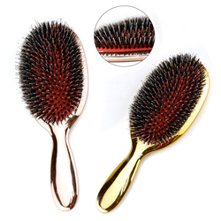 Boar Bristle Hair Brush Beauty Hairdresser Massage Comb Salon Hairdressing Styling Tools Smooth Plating Curly Detangler Brush