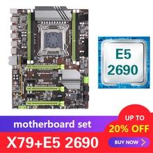 Kllisre X79 เมนบอร์ดชุด Xeon E5 2690 LGA 2011 รองรับ DDR3 ECC REG หน่วยความจำ ATX USB3.0 SATA3 PCI E NVME m.2 SSD
