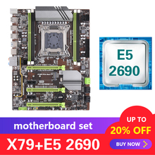 Xeon E5 2690 LGA 2011 지원 Kllisre X79 마더 보드 세트 DDR3 ECC REG 메모리 ATX USB3.0 SATA3 PCI E NVME M.2 SSD