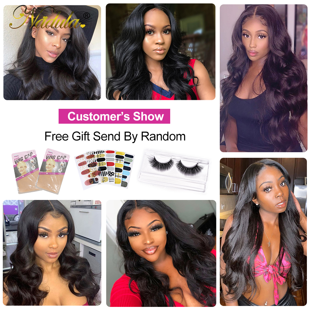Body Wave Lace Wig   150% Density 13x1 T Part Lace Front Wig with Baby Hair Nadula Deep Part  Wigs 6