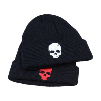 Skull Embroidery Hip Hop Cap Hat Spring Women Winter Beanies Men Dad Hats Lady Hats Snowboard Caps Skullies Warm Knitted Ski Cap men and women s one piece embroidery hip hop knitted wool acrylic hat europe and the united states style ski cap rx145