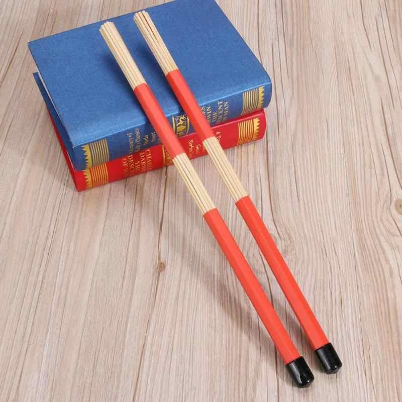 no logo Hf-Percussion 1 Pair Jazz Drum Brushes Drum Sticks Bamboo High Bamboo Drum Accessories Parts Professional Bamboo Drum Brush Bundle Stick