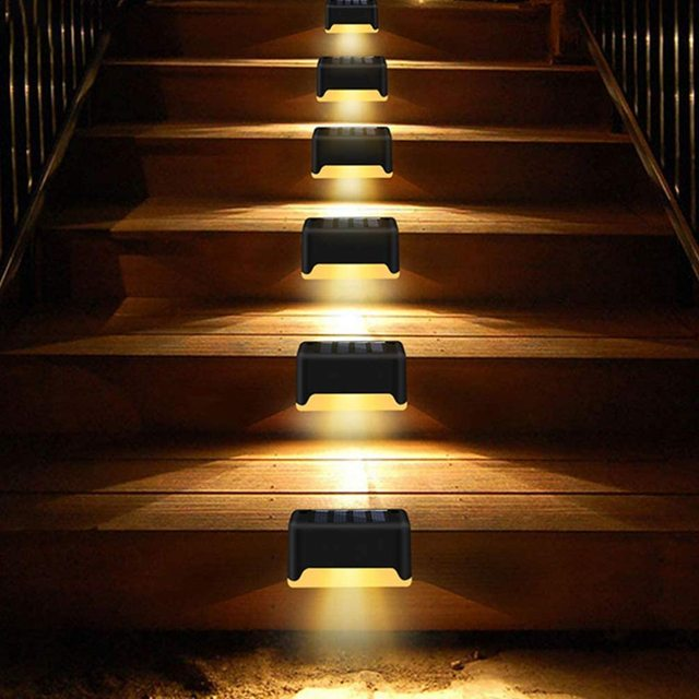 16pcs LED Solar Lamp Path Stair Outdoor Waterproof Wall Light Garden Landscape Step Stair Deck Lights Balcony Fence Solar Light 5