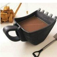 단일 컵 굴 삭 기 양동이 컵 이상한 손 크리 에이 티브 재미 있은 컵 세라믹 컵 카페 케이크 컵 차 컵 WF3081413
