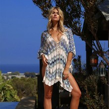 Oversize Crochet Beach Dress Cover up Sarong Kaftan Beach Tunic Plage Bathing suit cover ups Pareo Beach Bikini Cover up #Q776