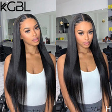 KGBL Natural Color Straight 13x4 Lace Front Human Hair Wigs 8-24'' Pre-Plucked 150% Density Non-Remy For Women Brazilian Medium