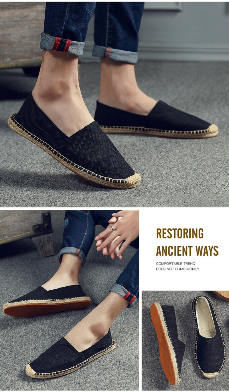 on Loafers Casual Shoes Woman Espadrilles Hemp