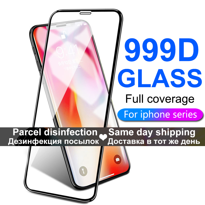 Full Cover Protective Glass On The For IPhone X XS Max XR 11 Tempered Glass For IPhone 7 8 6 6s Plus 11 Pro Max Screen Protector