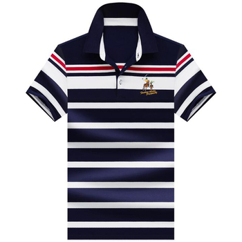 High quality polo shirt New summer brand cotton men's polo shirt Business casual short sleeve striped shirt polo men tops polos 2019 summer puppy stamp men polo shirt brand clothing pure cotton men business casual male polo shirt short sleeve breathable po