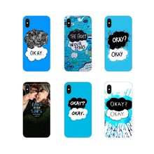 For Huawei Mate Honor 5X 6X 7 7A 7C 8 9 10 8C 8X 20 30 Lite Pro Accessories Phone Cover Bag Fault In Our Stars Okay Okay Painted(China)