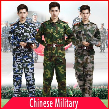 цена на Chinese Military Uniform Tactical Camouflage Combat Cloth Asian Men Army Forces Soldier Training Work Wear Hunting Clothes Set