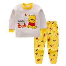 Disney Baby Cotton Underwear Set Cartoon Winnie The Pooh Children's Autumn Long-sleeved Two-piece Suit for Boys and Girls