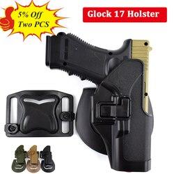 Glock táctico 17 19 22 23 31 32 Airsoft pistolera para el cinturón pistola Glock caza accesorios arma caso mano