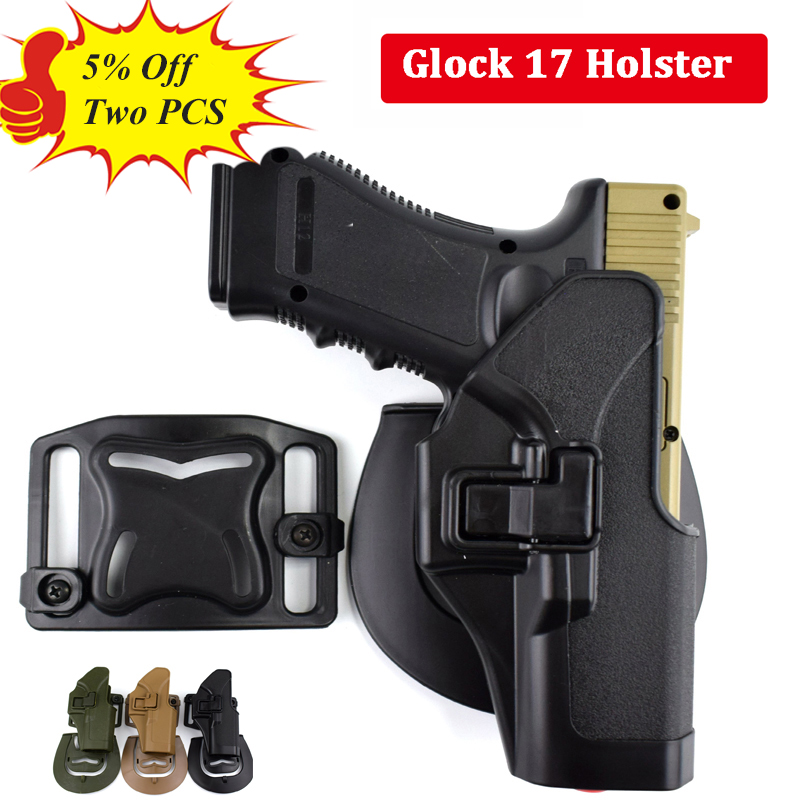 Tactical Glock 17 19 22 23 31 32 Airsoft Pistol Belt Holster Glock Pistol Hunting Accessories Gun Case Right Hand