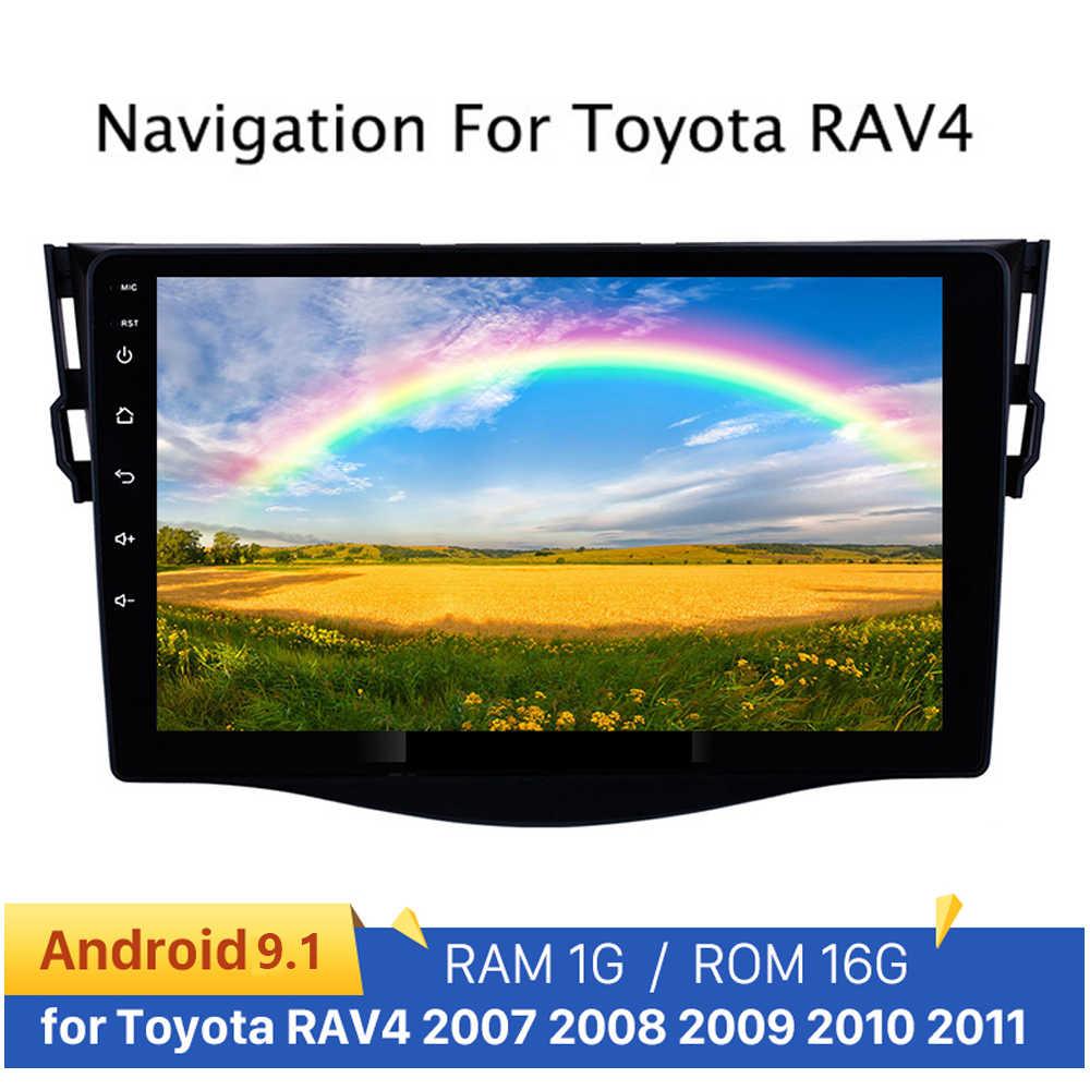 9 ''アンドロイド 9.1 カーマルチメディア mp5 プレーヤー 2 Din ラジオ GPS ナビオーディオラジオ RAV4 Rav 4 4 2007 2008 2009 2010 2011