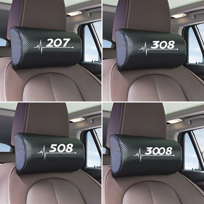 Универсальные автомобильные подушки под шею для салона Peugeot 206 207 208 306 307 308 407 408 508 2008 3008 аксессуары Наклейки на автомобиль      АлиЭкспресс
