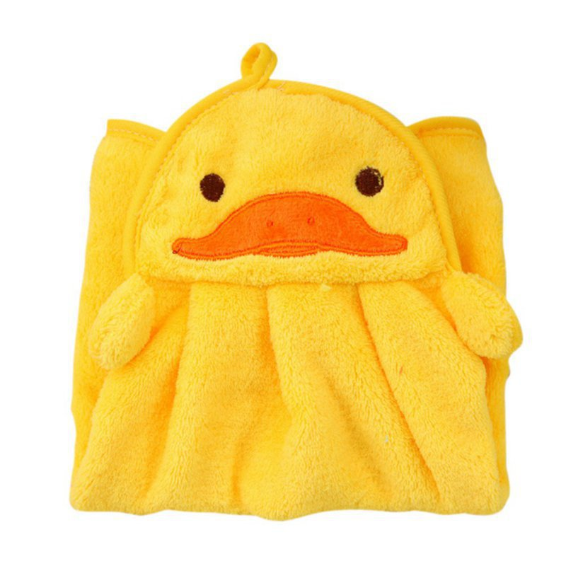 Hilittlekids Super Soft Coral Fleece Kid Child Towel Cartoon Baby Wipe Sweat Hung Towel Towel