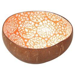 Naturalne misa z łupiny kokosa naczynia ręcznie malowane Vintage Craft Decoration|Miski i talerze|   -