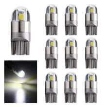 20pcs Car LED Light T10 W5W 3030SMD 2led White 12V Clearance Reading Signal Lamp Car Light Bulb T10 LED(Hong Kong,China)