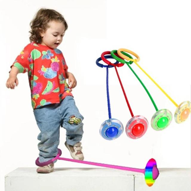 Flash Jumping Foot Force Ball Led Outdoor Bouncing Skip Toys Exercise Games