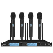 Professional UHF wireless microphone system handheld lavalier microphone home karaoke party stage microphone wireless
