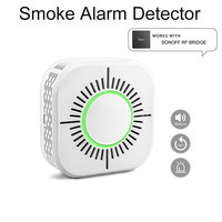 Wireless Smoke Detector For Smart Home Automation Fire Alarm Protection Smart Sensor For Use With Sonoff RF Bridge