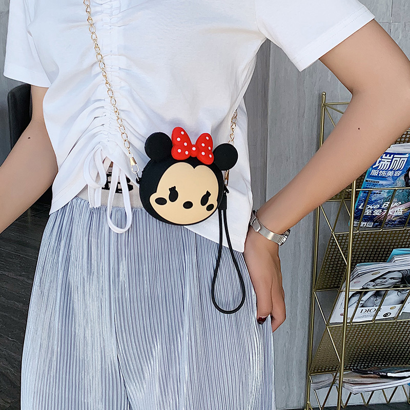 Hot On Sale Kawaii Minnie Cartoon Pouch Children Plush Coin Purse Zip Change Purse Wallet Kids Girls Women For Earphone Box in Earphone Accessories from Consumer Electronics