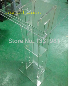Small Cheap Acrylic Lectern / Plexiglass Pulpit / Perspex Rostrum
