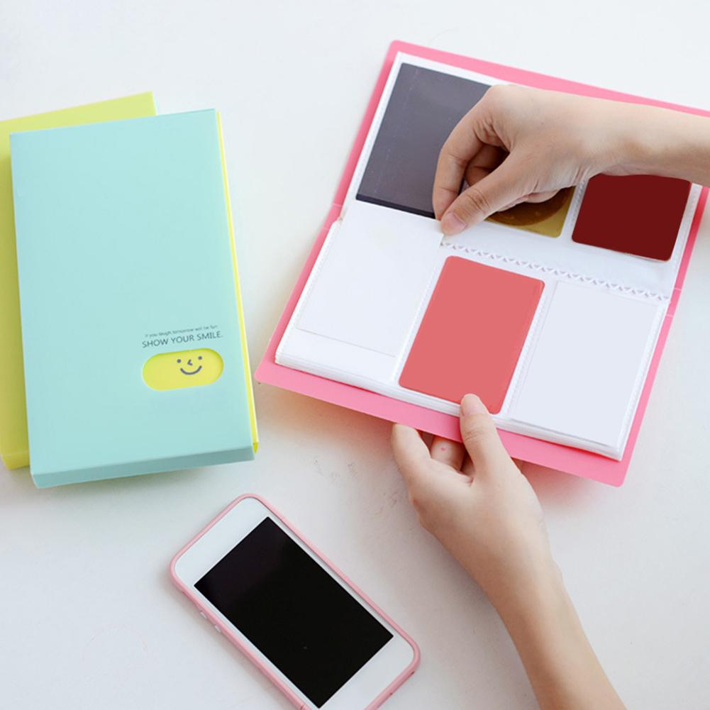 Portable 120 Pockets Large Capacity  Scrapbooking Photo Name Card Photocard Album ID Holder