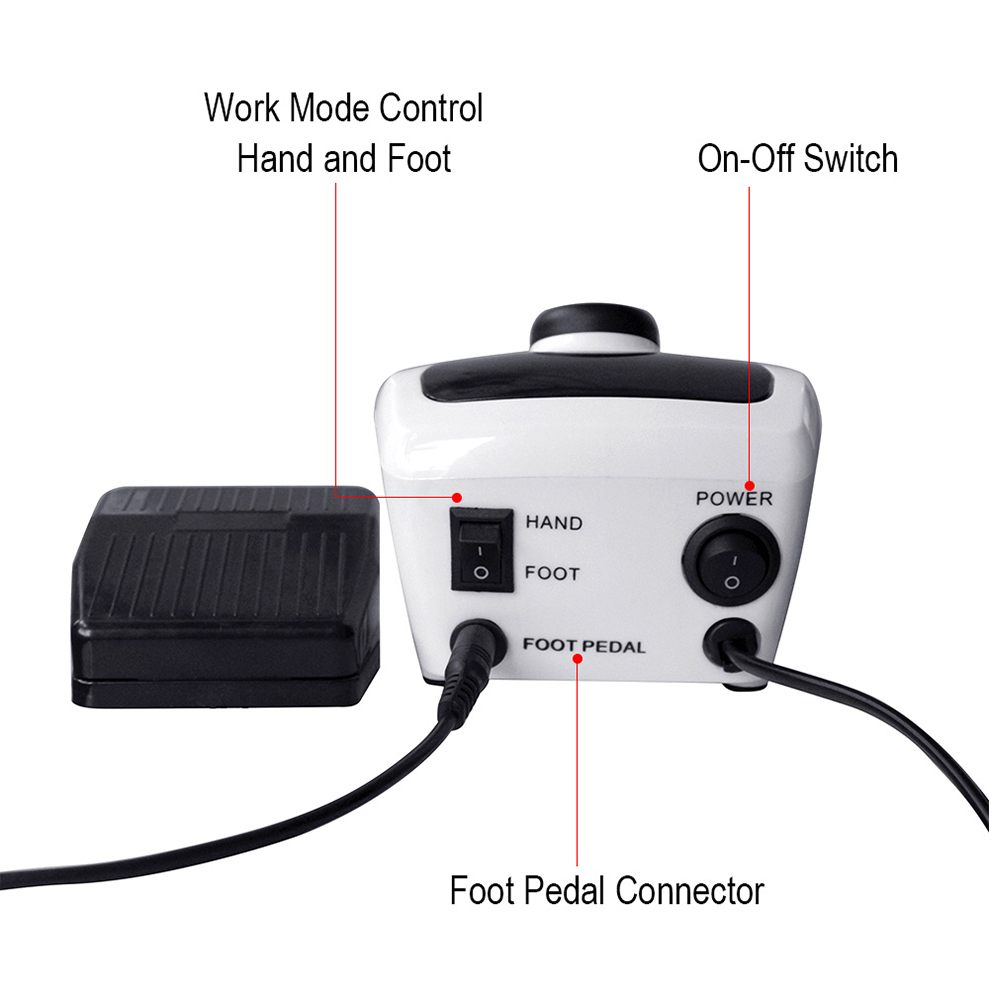 35000/20000 RPM Electric Nail Drill Machine Apparatus for Manicure Pedicure with Cutter Nail Art Kit Nail Tool