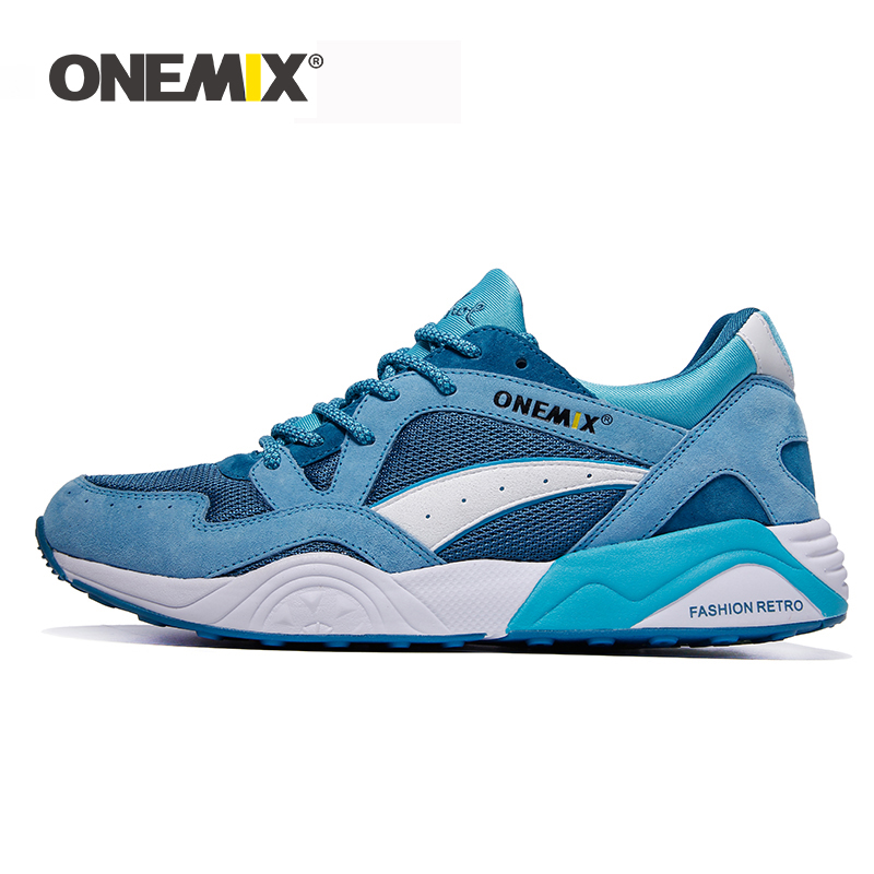 ONEMIX Men Sneakers Size 39-46 Light Weight Breathable Lace-up Adult Male Outdoor Athletic Casual Training Running Jogging Shoes