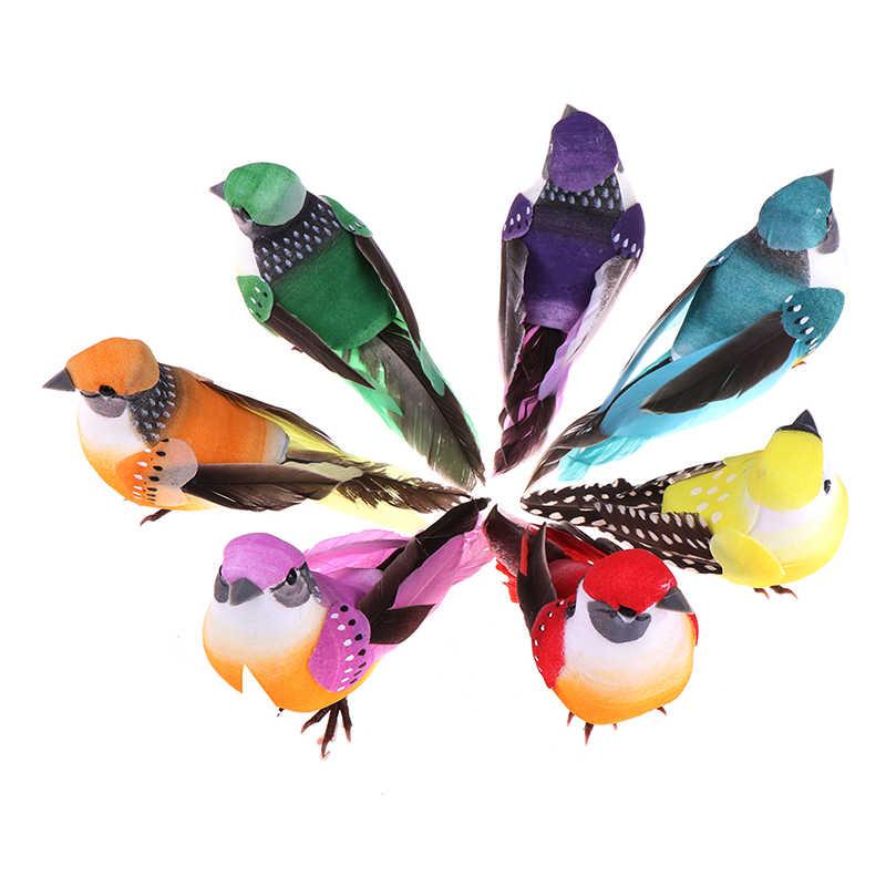 1/12 Buah Busa Buatan Burung Bunga Perlengkapan untuk Pernikahan Natal Pohon Dekorasi Diy Scrapbooking Bunga Palsu Bunga