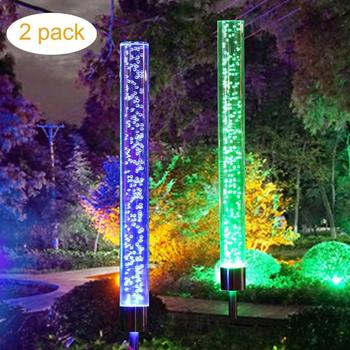 Solar Garden Lights Stainless Steel, Waterproof LED Solar Powered Pathway Lights Outdoor Landscape Lighting for Lawn