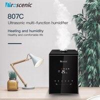 5.5l humidificadores ultrassônicos da névoa quente e fria proscenic 807c vaporizador com controle do app e do aleax para o quarto e os bebês