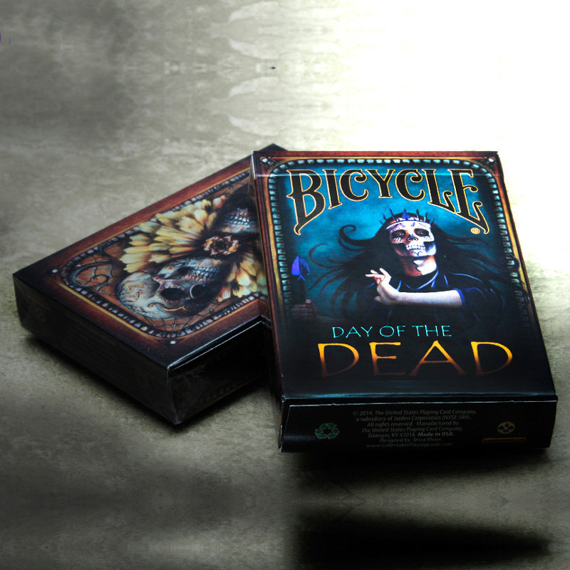 1 Deck Bicycle Cards Day Of The Dead Playing Cards Regular Bicycle Deck Rider Back Card Magic Trick Magic Props