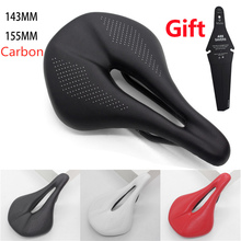 2021 NEW Pu+carbon fiber saddle road mtb mountain bike bicycle saddle for man cycling saddle trail comfort races seat red white