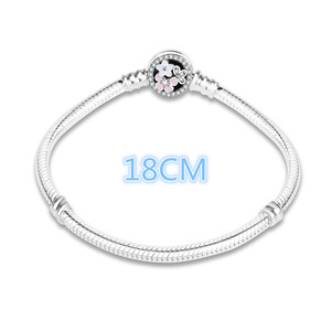 Image 3 - 100% 925 Sterling Silver Enamel Flower Charm Chain Fit Original Bracelet Bangle for Women Authentic DIY Jewelry berloque Gift