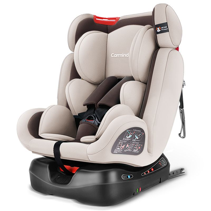 Car Child Safety Seats CARMIND For 0-12 Years Old Baby ISOFIX Hard Interface Can Sit And Lie Adjustable 165 Degree