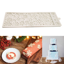 French Dessert Cake 3D DIY Mold Snowflake Shape Non Stick Silicone Mold Christmas Chocolate Baking Food Grade Kitchen Tool