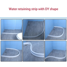 Silicone Bendable Bathroom Shower Floor Partition Water Retaining Strip 667A