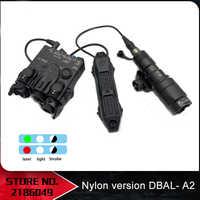 SOTAC Airsoft-linterna DBAL A2, luz láser roja blanca, arma surefir, luz de DBAL-A2 de nailon