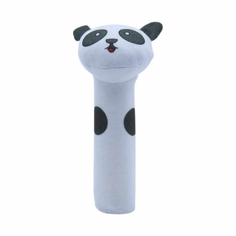 Crepitio del bambino Giocattoli di Peluche Del Bambino Del Fumetto Letto Giocattoli Educativi Giocattoli Coniglio Panda Mano Campane Cellulari Giocattoli Svegli Del Bambino