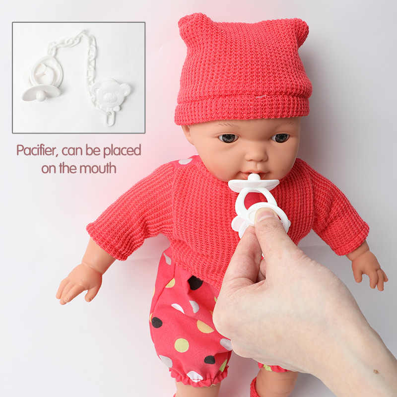 16 cali symulacja bebe reborn silikon 40.5cm realistyczne dźwięk ubrania dla lalki łańcuszek smoczka zestaw edukacja dla zabawek dla dzieci prezent