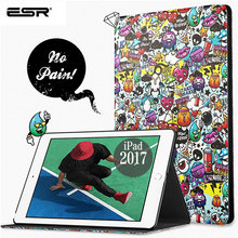 ESR Case for iPad 9.7 2017 illustration Cute Cartoon Scratch-Resistant Cover Hard Back New 2018 Release
