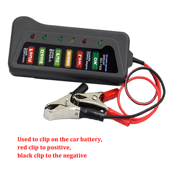 Mini 12V Car Battery Alternator Tester Digital Analyzer Tester 6 LCD Lights Display Car Diagnostic Tool Auto Battery Tester image