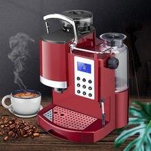 Devisib expresso barista máquina de café com moedor de rebarba cônica leite quente para fazer café expresso cappuccino americano